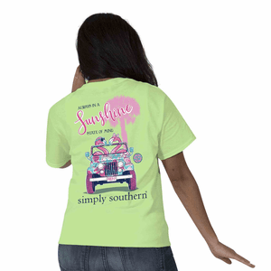 Preppy Flamingo Limeaid Short Sleeve Tee by Simply Southern