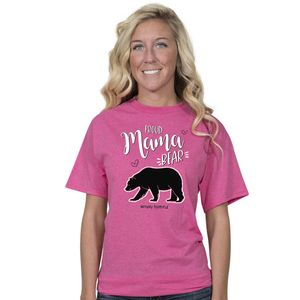 Proud Mama Bear Pink Simply Faithful Fitted Tee by Simply Southern