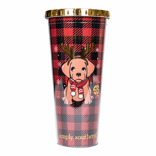 Puppy Plastic Tumbler by Simply Southern
