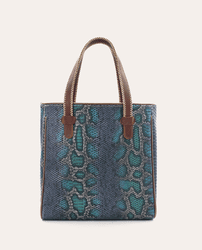 Rattler Navy Snake Classic Tote by Consuela