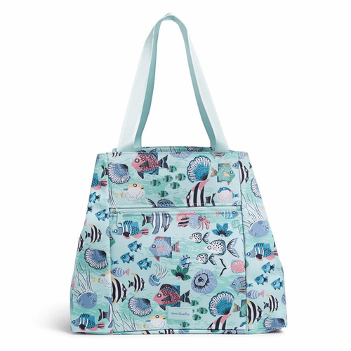 ReActive Large Family Tote Paisley Wave Fish by Vera Bradley