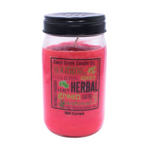 DISCONTINUED - Red Currant 24 oz. Swan Creek Kitchen Pantry Jar Candle