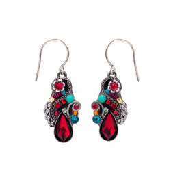 Red Lily Organic Earrings - Firefly Jewelry