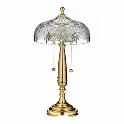"Renmore Polished Brass 19"" Accent Lamp by Waterford"