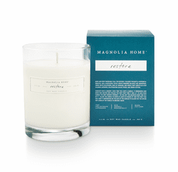 Restore Boxed Glass Candle  - Magnolia Home by Joanna Gaines