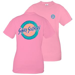 Retro Palm Flamingo Short Sleeve Tee by Simply Southern