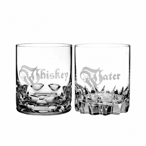 Retro Whiskey & Water Double Old Fashioned Pair by Waterford