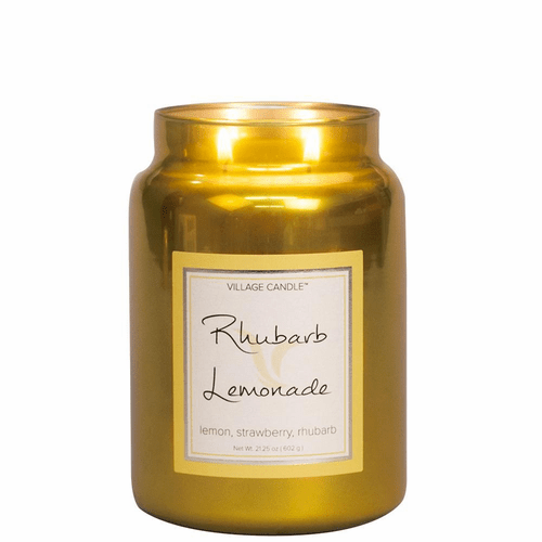 Rhubarb Lemonade 26 oz. Metallic Jar by Village Candles