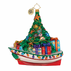 Riding the Waves of Christmas Ornament by Christopher Radko