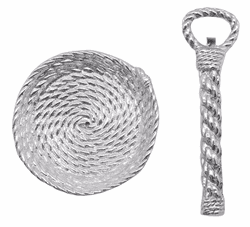 Rope Handled Bottle Opener and Top Catcher Set by Mariposa