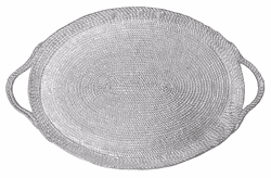 Rope Oversized Oval Tray by Mariposa