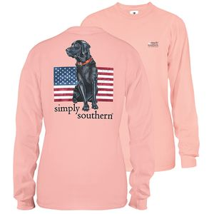 Rose Black Lab Unisex Long Sleeve Tee by Simply Southern