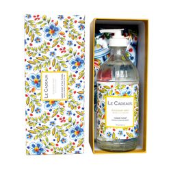 Rosemary Mint Scented Liquid Hand Wash 16 oz. Bottle & Tea Towel Gift Set by Le Cadeaux