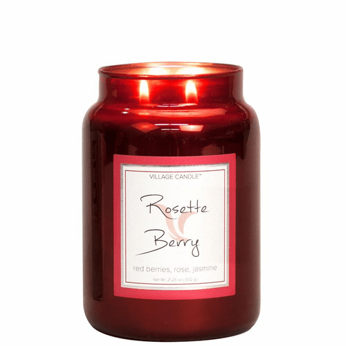 Rosette Berry 26 oz. Metallic Jar by Village Candles