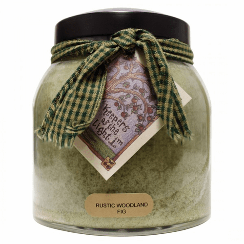 Rustic Woodland Fig 34 oz. Papa Jar Keepers of the Light Candle by A Cheerful Giver