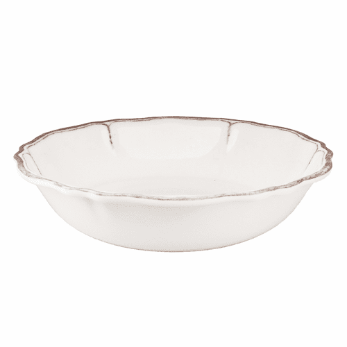 "Rustica Antique White 10"" Salad Bowl for Two by Le Cadeaux"