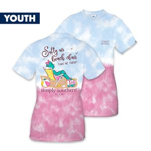 Salty Air Beach Chair YOUTH Short Sleeve Tee by Simply Southern