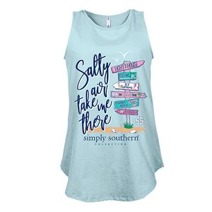 Salty Air Take Me There Tank by Simply Southern