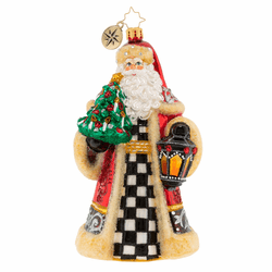 Santa Lights The Way Ornament by Christopher Radko - (Available March)
