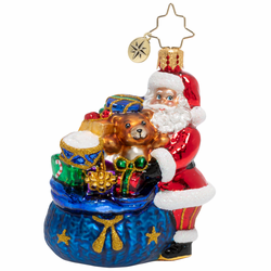 Santa's Christmas Surprise Gem Ornament by Christopher Radko