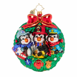 Santa's Humble Helpers Ornament by Christopher Radko