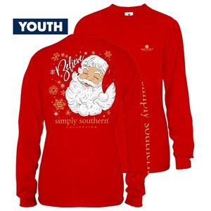 Santa YOUTH Long Sleeve Tee by Simply Southern