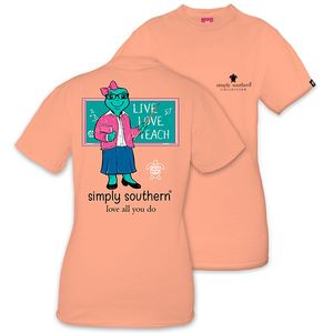 Save the Turtles Live Love Teach Short Sleeve Tee by Simply Southern