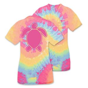 Save the Turtles Logo Tiedye Short Sleeve Tee by Simply Southern
