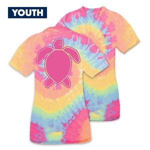 Save the Turtles Logo Tiedye YOUTH Short Sleeve Tee by Simply Southern