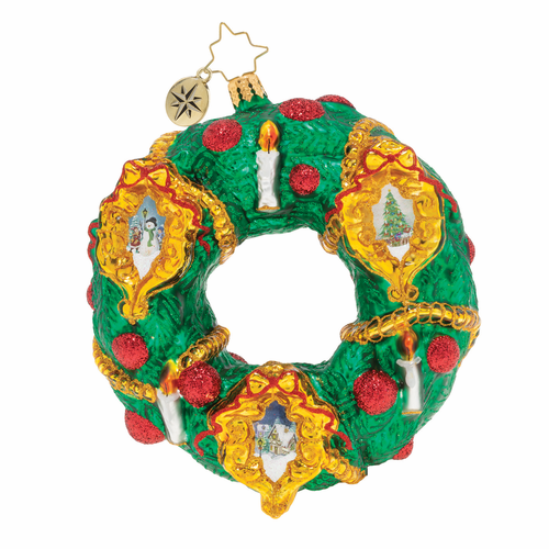 Scenes of Christmas Wreath Ornament by Christopher Radko