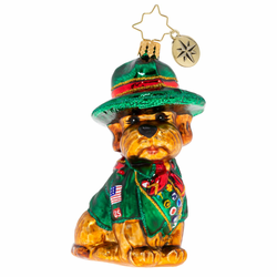 Scout's Honor Puppy Ornament by Christopher Radko