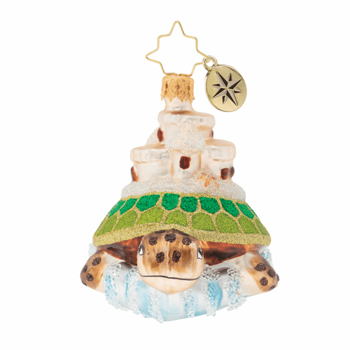 Sea And Castle Gem Ornament by Christopher Radko