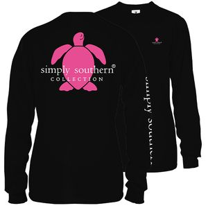 Sea Turtle Logo Black Long Sleeve Tee by Simply Southern