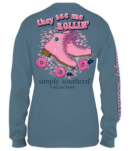 See Me Rollin Stone Long Sleeve Tee by Simply Southern