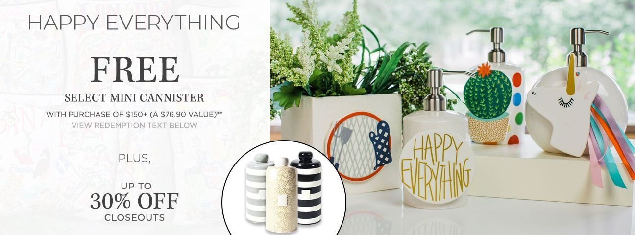 Select Mini Cannisters by Happy Everything!