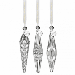 Set of 3 Icicle Ornaments by Waterford