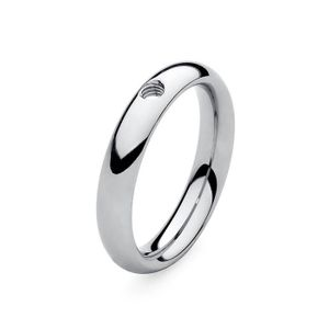 Silver Basic Small Interchangeable Ring by Qudo Jewelry