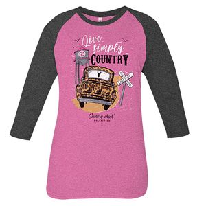 Simply Country Pink Country Chick Long Sleeve Tee by Simply Southern
