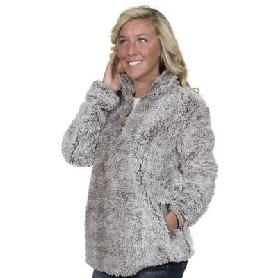 Pearl Sherpa Pullover by Simply Southern