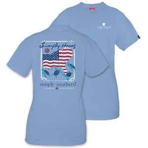 Simply Strong Hurricane Relief Blue Short Sleeve Tee by Simply Southern