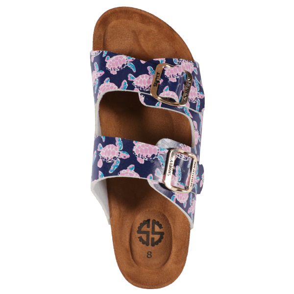 063ec5bf8a3b Simply Southern Tees Size 10 Ivy Turtle Navy Blue   Pink Sandals