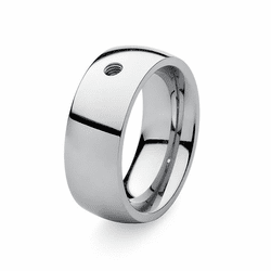 Size 5 Silver Basic Big Interchangeable Ring by Qudo Jewelry