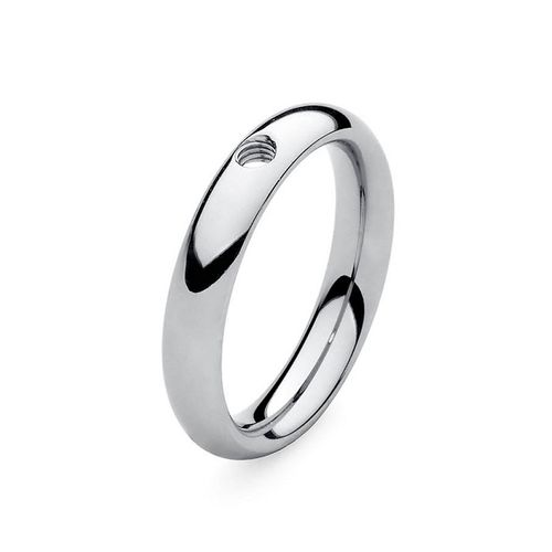 Size 5 Silver Basic Small Interchangeable Ring by Qudo Jewelry