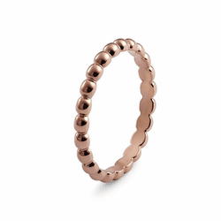 Size 6 Rose Gold Matino Interchangeable Spacer Ring by Qudo Jewelry