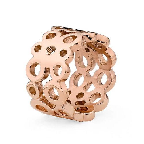 Size 7.5 Rose Gold Ancona Basic Interchangeable Ring  by Qudo Jewelry