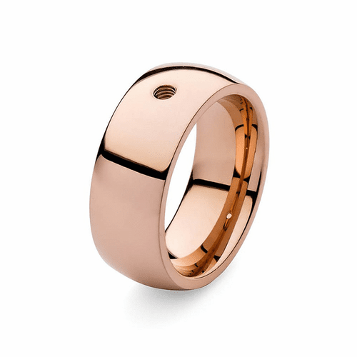 Size 7.5 Rose Gold Basic Big Interchangeable Ring by Qudo Jewelry