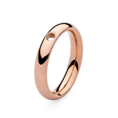 Size 7.5 Rose Gold Basic Small Interchangeable Ring by Qudo Jewelry