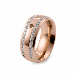 Size 7.5 Rose Gold Lecce Basic Interchangeable Ring  by Qudo Jewelry