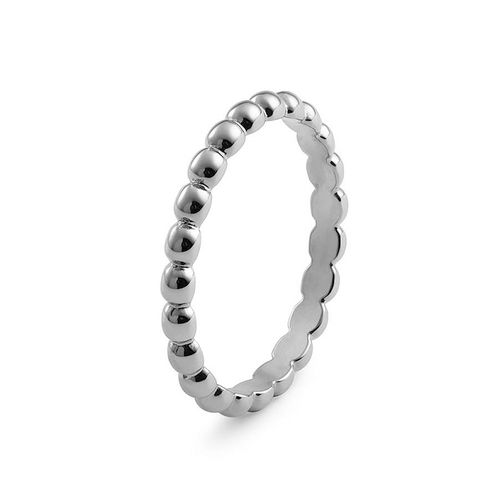 Size 7.5 Silver Matino Interchangeable Spacer Ring by Qudo Jewelry