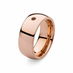 Size 7 Rose Gold Basic Big Interchangeable Ring by Qudo Jewelry